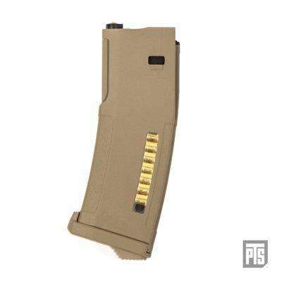 PTS EPM (Enhanced Polymer Magazine) for TM Recoil M4/SCAR Tan