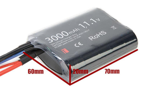 Titan Power 11.1v 3000mah Brick Deans Lithium Ion Battery