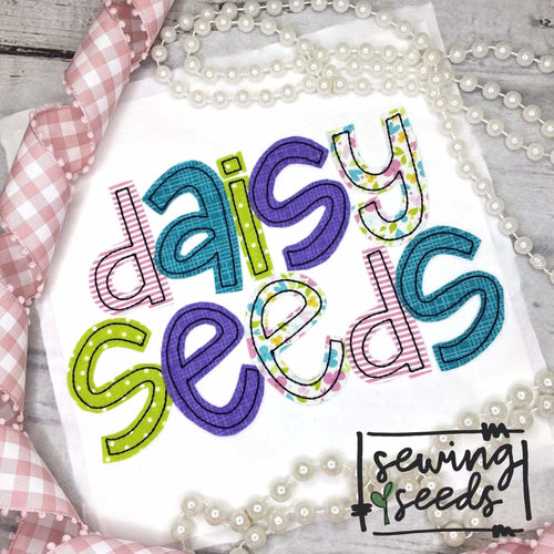 Daisy Seeds Applique Font - Sewing Seeds