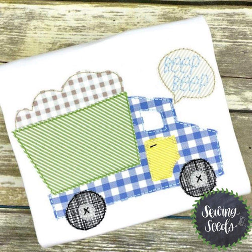 Dump Truck with Beep Beep Applique SS - Sewing Seeds