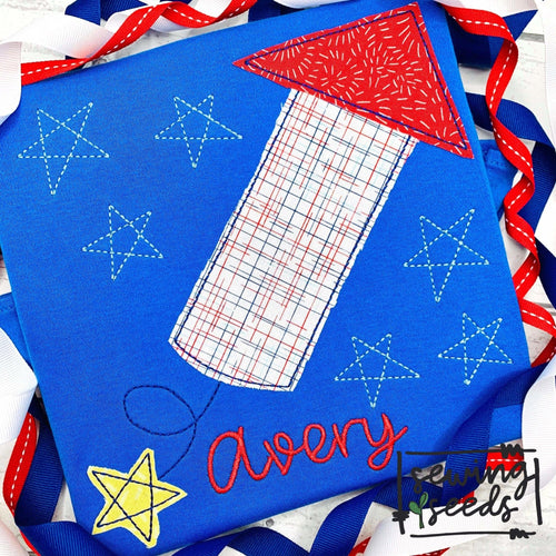 Firework with Stars Applique SS - Sewing Seeds