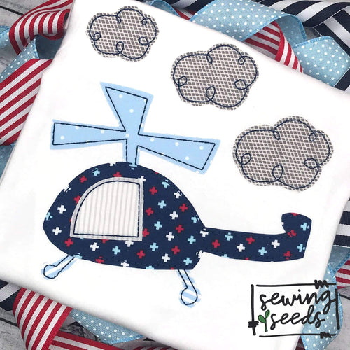 Helicopter Applique SS - Sewing Seeds