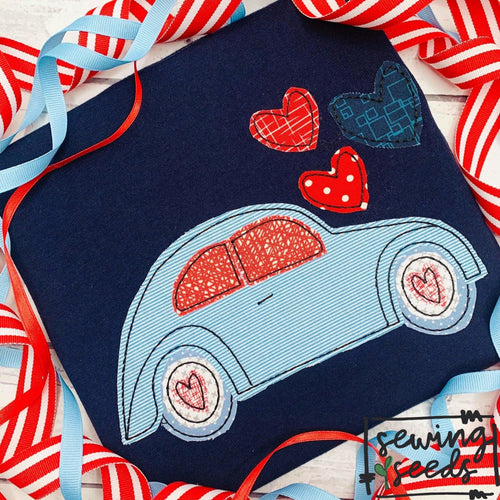 Love Bug Valentine Applique SS - Sewing Seeds