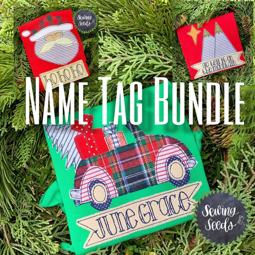 Name Tag Bundle Applique SS - Sewing Seeds