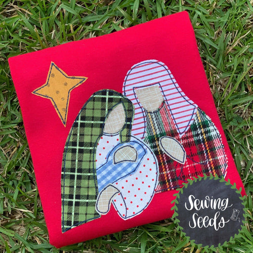 Nativity Christmas Greatest Night Ever Applique SS - Sewing Seeds