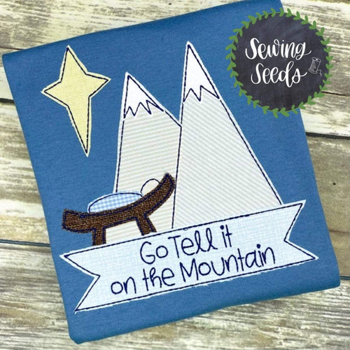 Nativity Go Tell it on the Mountain Applique SS - Sewing Seeds
