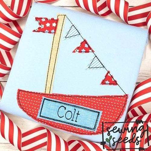 Sailboat Applique SS - Sewing Seeds