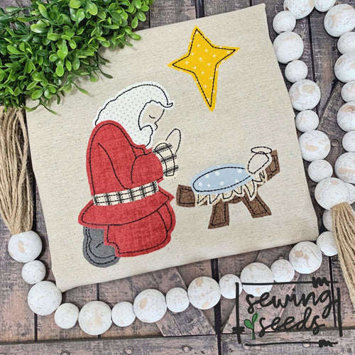 Santa and Baby Jesus Applique SS - Sewing Seeds