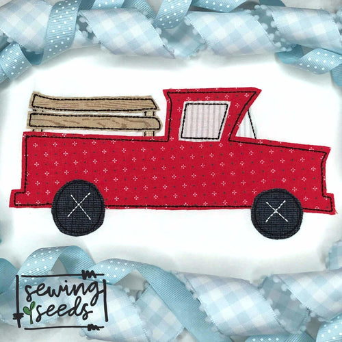 Vintage Truck Applique SS - Sewing Seeds
