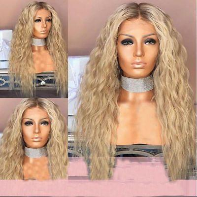 Long Hair Human Hair Wigs Long Wavy Natrual Blonde Hair Wigs