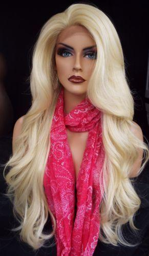 Lace Front Wig Lace Front Blonde Wig Long Light Blonde Wavy Wigs for Women