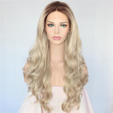 Lace Front Wig Blonde Wig  Straight Wigs Free Shipping Long Hair Human Hair