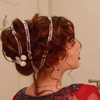 Rose's Titanic Style Rose red Fashion Wig