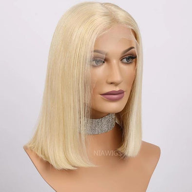 Blonde Short Bob Wigs 150% Density Brazilian Straight 1B 613 Lace Wig Ombre Lace Front Human Hair Wig For Women