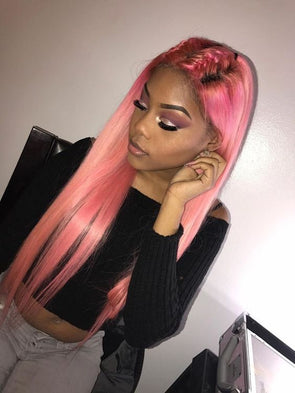 Lace Frontal Wigs Pink Hair Adore Neon Pink For Girl