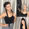 New Long Pre Braided Freedom Couture Black Wig