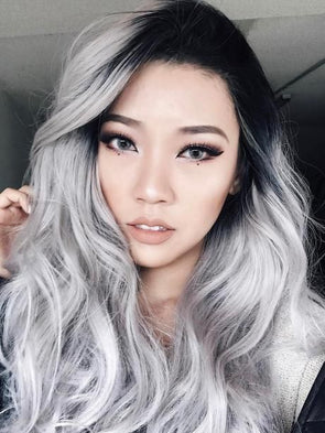Wigs For White Women Affordable Wigs For CaucasianGrey Ombre Hair