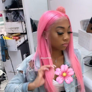 Lace Frontal Wigs Pink Hair Adore Hair Color Pink For Women