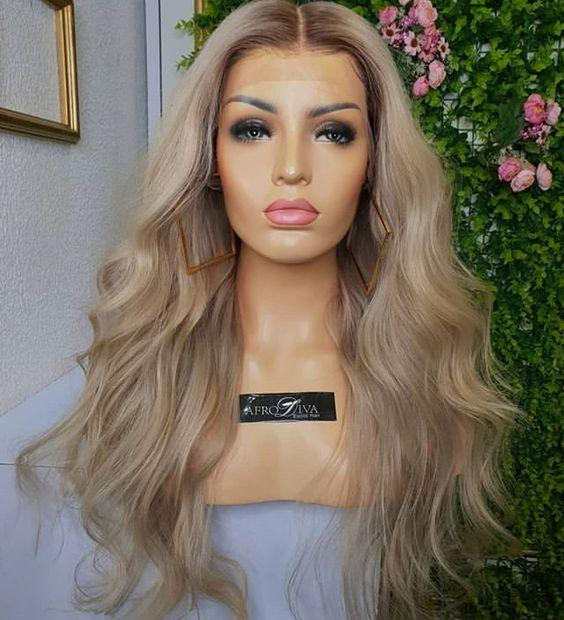 Virgin cuticle aligned Wave hair ombre 1b/27 honey light brown human hair lace wigs