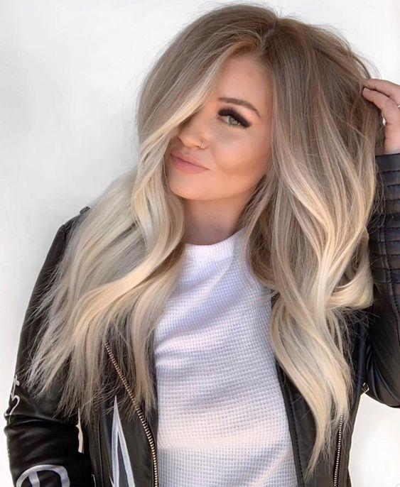 Lace Front Wig 150% density brazilian straight Ash Blonde / Brown Wig