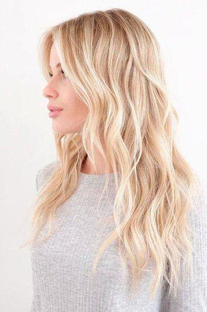 Blonde Lace Front Wig Long Wavy Wigs For Women