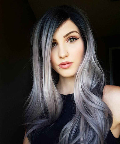 Gray Wigs Hair African American Gray Hair WigsAsh Gray Hair Color