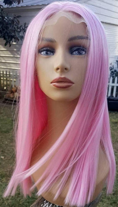 Lace Frontal Wigs Pink Hair Adore Pink Petal For Women
