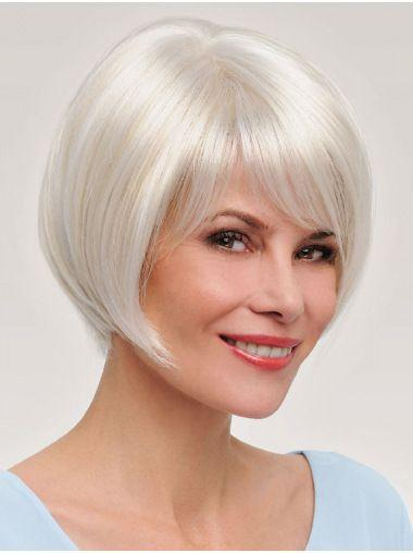 "Cube Short Straight Hair Wig 10""with Natural Bangs Pixie Cut with Highlights For Women Fluffy Free Shipping"