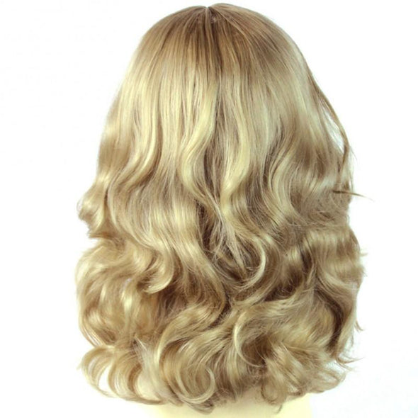 Lace Front Wig Blonde Wig Stunning Heat Resistant Curly Light Honey Blonde