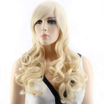 Blonde Wig Long Hair Hair Wig Long Wavy Wig Ombre Brown High Density Heat Resistant For Black/White Women Cosplay/Party Cosplay Wigs
