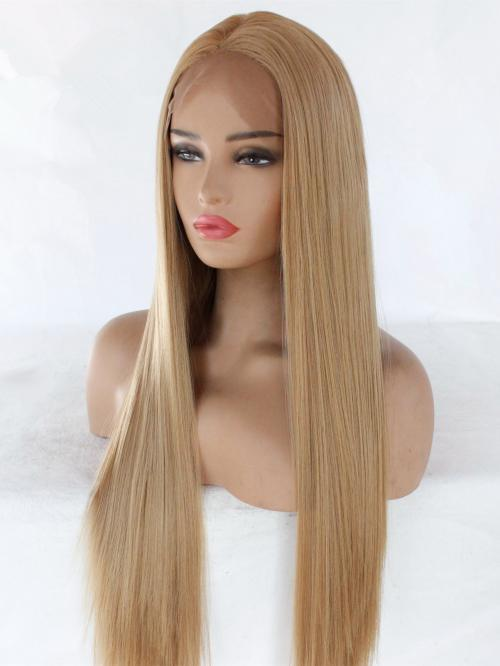 Lace Front Wig Blonde Wave Hair Wig Long Hair Human Hair Wigs Free Shipping
