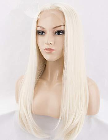 Blonde Wig 100CM/40 Inches Synthetic Heat Resistant Fiber Long Halloween Carnival Costume Cos-play Straight Women Hair