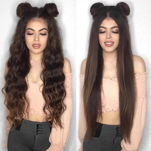 Long Straight 2019 Brown Chestnut Fashion Wig