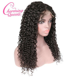 Wigbaba Best Swiss Lace Frontal Wigs 12 Inch Curly Wig