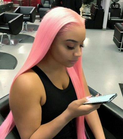 Lace Frontal Wigs Pink Hair Adore Pink Blush For Girl