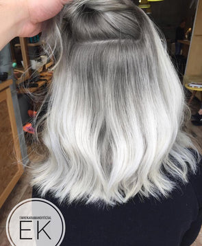 Gray Wigs Lace Frontal Wigs Gray Shampoo BottleGrey Blonde Hair