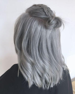 Gray Wigs Lace Frontal Wigs Dark Grey Hair Color DyeNice Grey Hair