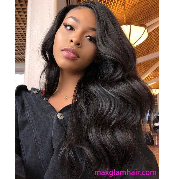 Big Wave Lace Front Wigs Yellow Finger Wave Wig
