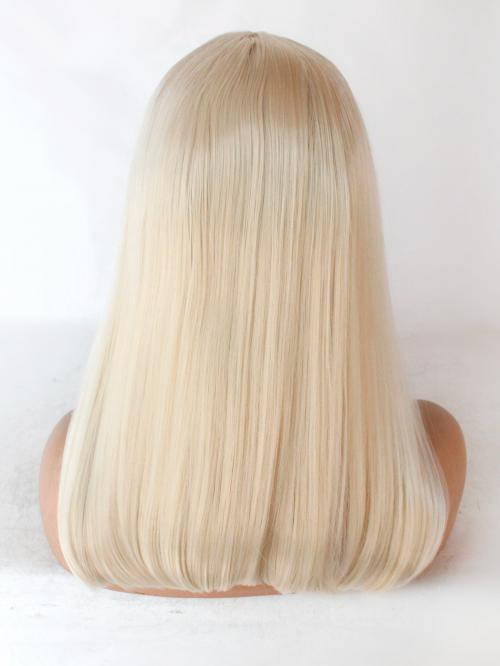 Platinum Blonde Wig Straight Glueless Lace Front Wigs