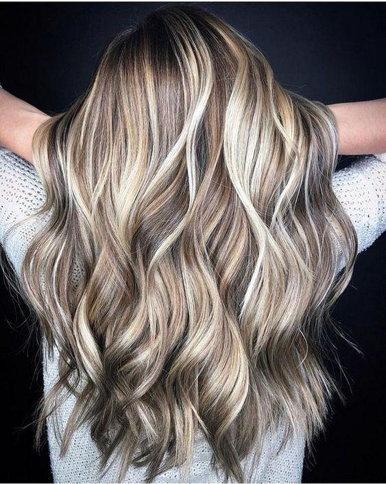 Wave Ombre Blonde Brown Hair Roots Wedding Hair Wigs Synthetic Lace Front Wigs for Women Daily Wear