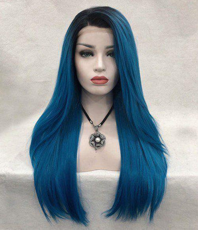 blue black ombre wig purple and blue short hair