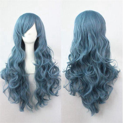 blue green ombre wig dark to light blue hair