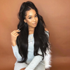 Kingkylie Long Wavy Black Wig