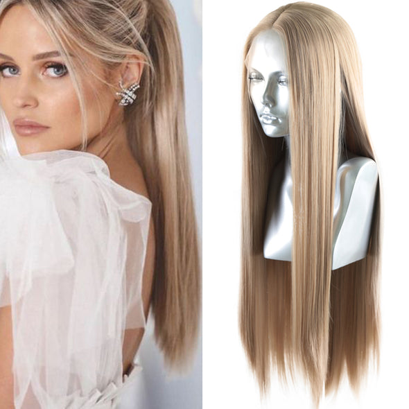 Lace Front Wig Blonde Wig Long Hair 13x4 Lace Front Human Hair Wigs Light Dark Brown Lace Front Wig RUIYU Straight Wigs Remy Wigs With Baby Hair