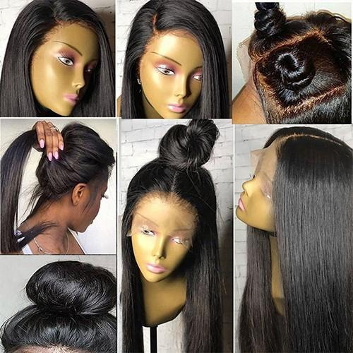 Lace Front Hair Wigs black straight human hair wig