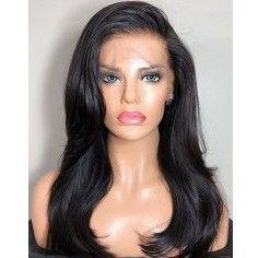 Lace Front Hair Wigs grey wig black roots
