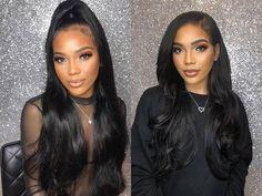 Lace Front Hair Wigs wig Long black
