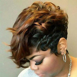 Brown Short Wig Bob Wig Human Hair Lace Front Wigs For Women Natural Wig