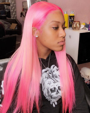 Lace Frontal Wigs Pink Hair Adore Cotton Candy Pink For Women