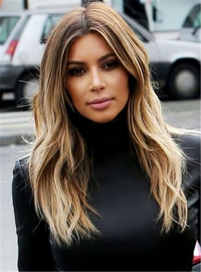 2020 Fashion Ombre Blonde Wigs 100 Human Lace Front Wigs For Sale